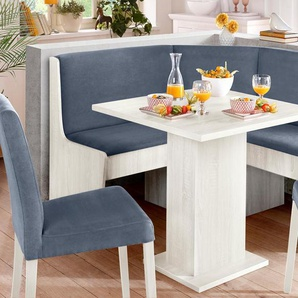 my home Eckbank B/H/T: 128,5 cm x 85,5 cm, Microfaser, klein grau Eckbänke Sitzbänke Stühle