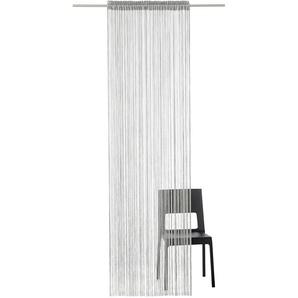 My Home Fadenvorhang »Fao-Uni«, H/B 145/145 cm, grau, transparenter Stoff