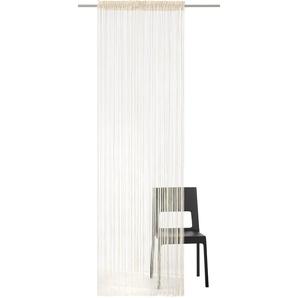 My Home Fadenvorhang »Fao-Uni«, H/B 160/145 cm, beige, transparenter Stoff