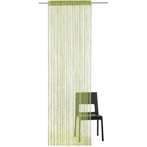 My Home Fadenvorhang »Fao-Uni«, H/B 160/145 cm, grün, transparenter Stoff