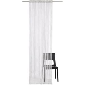 My Home Fadenvorhang »Fao-Uni«, H/B 245/95 cm, weiß, transparenter Stoff