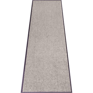 my home Fußmatte Clean & Walk, rechteckig, 7 mm Höhe, Schmutzfangmatte, In- und Outdoor geeignet, waschbar B/L: 180 cm x 120 cm, 1 St. grau Designer Fußmatten