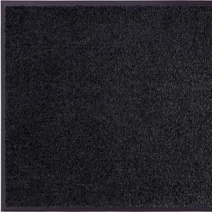my home Fußmatte Clean & Walk, rechteckig, 7 mm Höhe, Schmutzfangmatte, In- und Outdoor geeignet, waschbar B/L: 180 cm x 120 cm, 1 St. schwarz Designer Fußmatten