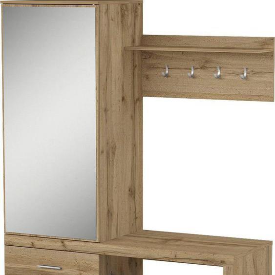 Garderobe , Maße »Megapolis«, 138.5x181.5x50 cm (BxHxT), FSC®-zertifiziert, my home, Material Holzwerkstoff