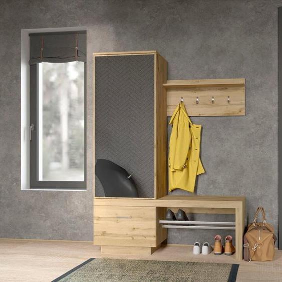 my home Garderobe »Megapolis«, Maße (B/T/H) 138,5/50/181,5cm, beige