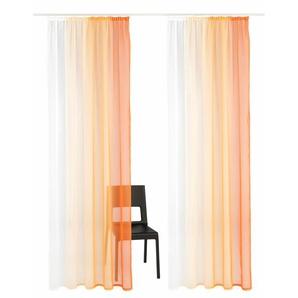 My Home Gardine »Valverde«, H/B 245/144 cm, orange, transparenter Stoff