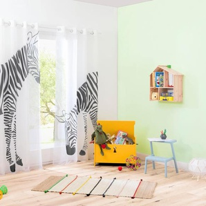 My Home Gardine »Zebra«, H/B 175/140 cm, weiß, transparenter Stoff