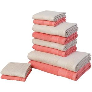 my home Handtuch Set »Afri« (Set, 10-tlg), mit tollen Farbkombinationen (10-tlg. Set)
