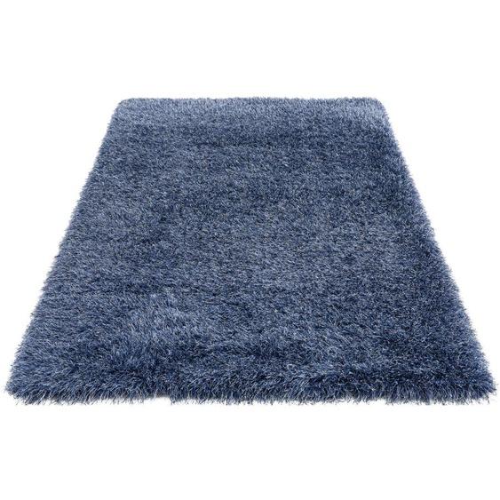 my home Hochflor-Teppich Amadeo, rechteckig, 73 mm Höhe, besonders langer Flor, Wohnzimmer B/L: 240 cm x 320 cm, 1 St. blau Schlafzimmerteppiche Teppiche nach Räumen