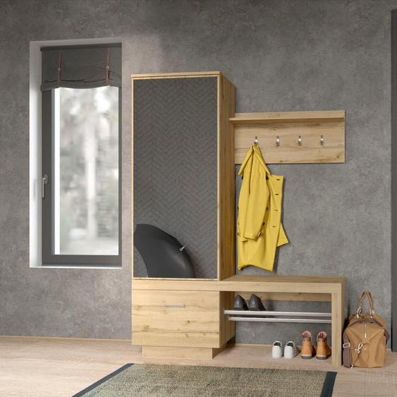 my home Kompaktgarderobe, FSC®-zertifiziert, beige »Megapolis«