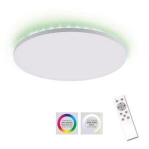 my home LED Deckenleuchte »Floki«, Rahmenlose Deckenlampe weiß Ø 42 cm, Deckenpanel mit Farbtemperatursteuerung CCT und RGBK Backlight, dimmbar, Memory-Funktion