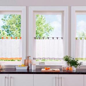 My Home Scheibengardine »Bitola«, grau, transparenter Stoff