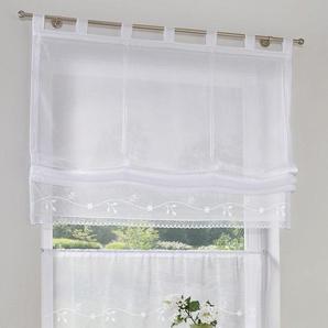 My Home Scheibengardine »Idaho«, weiß, transparenter Stoff