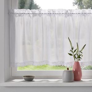My Home Scheibengardine »Missy«, weiß, transparenter Stoff