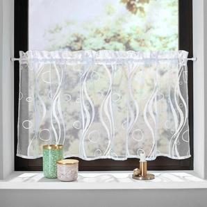My Home Scheibengardine »Ramon«, weiß, transparenter Stoff