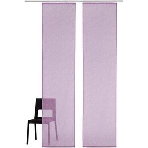 My Home Schiebegardine »Tanaro«, H/B 145/57 cm, lila, transparenter Stoff