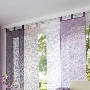 My Home Schiebegardine »Tanaro«, H/B 245/57 cm, lila, transparenter Stoff