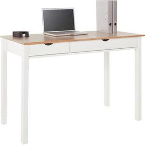 my home Schreibtisch »Gava«, aus massivem Kiefernholz und schönen eingefrästen Griffmulden, Breite 120 cm