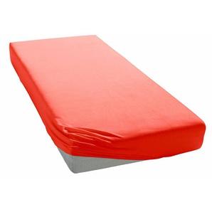 My Home Spann-Bettlaken »Jersey«, 140/200 cm, pflegeleicht, hautfreundlich, rot, aus 100% Baumwolle