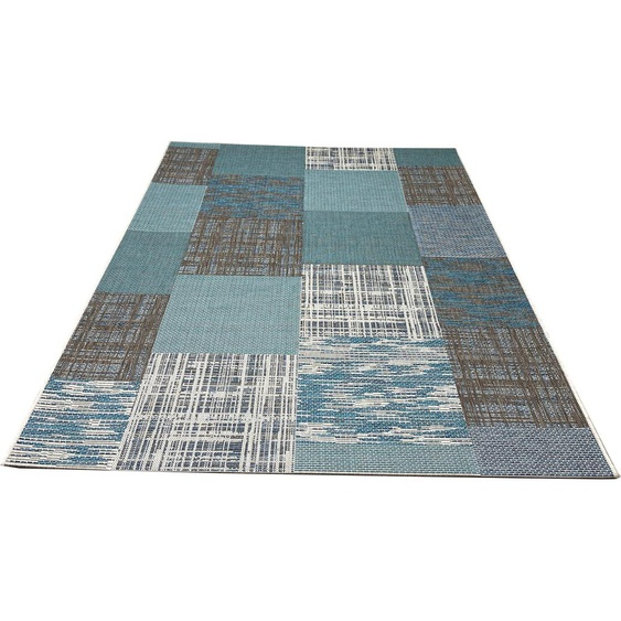 my home Teppich Ferial, rechteckig, 4 mm Höhe, In-und Outdoor geeignet, Wohnzimmer B/L: 230 cm x 330 cm, 1 St. blau Schlafzimmerteppiche Teppiche nach Räumen