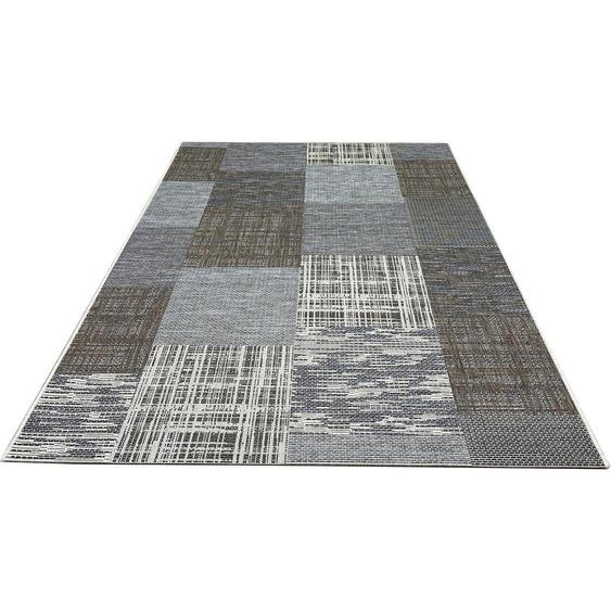 my home Teppich Ferial, rechteckig, 4 mm Höhe, In-und Outdoor geeignet, Wohnzimmer B/L: 230 cm x 330 cm, 1 St. grau Schlafzimmerteppiche Teppiche nach Räumen