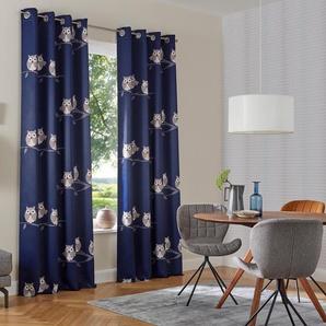 My Home Verdunkelungsvorhang  »Linea«, H/B 265/130 cm, blau