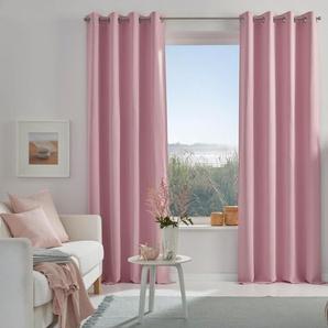My Home Verdunkelungsvorhang  »Solana«, H/B 145/140 cm, rosa