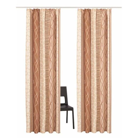 my home Vorhang Gosen, Gardine, Fertiggardine, blickdicht 145 cm, Kräuselband, 140 cm beige Wohnzimmergardinen Gardinen nach Räumen Vorhänge