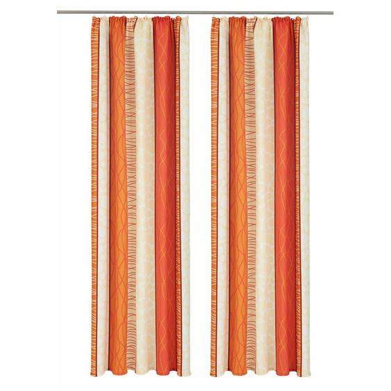 my home Vorhang Gosen, Gardine, Fertiggardine, blickdicht 245 cm, Kräuselband, 140 cm orange Wohnzimmergardinen Gardinen nach Räumen Vorhänge