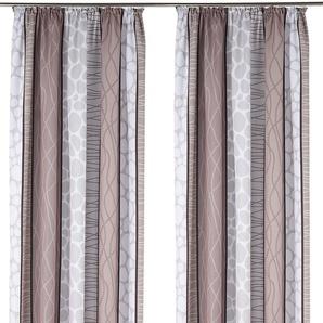 My Home Vorhang »Gosen«, H/B 145/140 cm, pflegeleichte Microfaser, grau, blickdichter Stoff