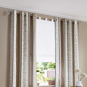 My Home Vorhang »Gosen«, H/B 175/140 cm, pflegeleichte Microfaser, grau, blickdichter Stoff