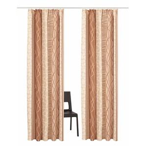My Home Vorhang »Gosen«, H/B 225/140 cm, pflegeleichte Microfaser, beige, blickdichter Stoff