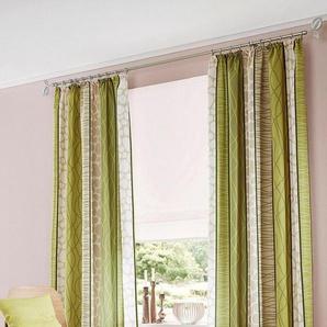 My Home Vorhang »Gosen«, H/B 225/140 cm, pflegeleichte Microfaser, grün, blickdichter Stoff