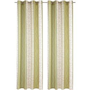 My Home Vorhang »Gosen«, H/B 245/140 cm, pflegeleichte Microfaser, grün, blickdichter Stoff