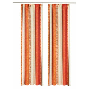 My Home Vorhang »Gosen«, H/B 245/140 cm, pflegeleichte Microfaser, orange, blickdichter Stoff