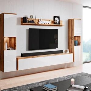 my home Wohnwand »PARIS«, (Set, 4-St), hängend und stehend montierbar