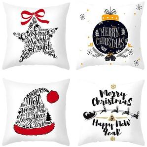 MyBeautyworld24 Kissenbezüge »4 Stück Kissenbezug aus Mikrofaser für Weihnachten Dekorative Kissenhüllen 45 x 45 cm Dekoration für Wohnzimmer Schlafzimmer Kinderzimmer«