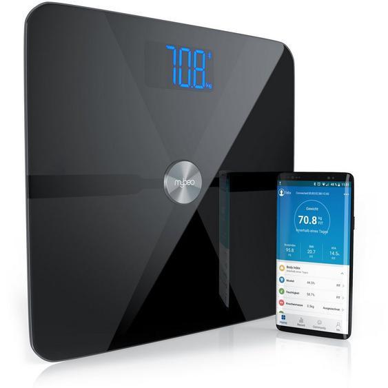 MyBeo Digitale Bluetooth Körperfettwaage »Diagnosewaage mit App-Steuerung«