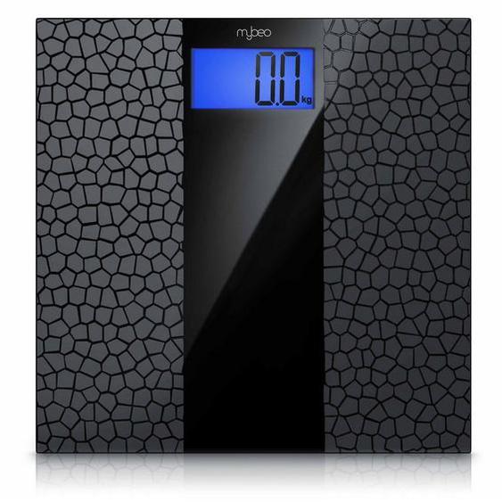 MyBeo Digitale Körperwaage im Glas Design »3.5 Display / Anti-Rutsch-Oberfläche / max 180 kg«