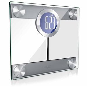 MyBeo Digitale Körperwaage im Glas Design »Display und Trittfläche extra groß / max. 200kg«