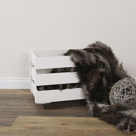 Myflair Möbel & Accessoires Aufbewahrungsbox Malik, Holz B/H/T: 56 cm x 39 36 weiß Körbe Boxen Regal- Ordnungssysteme Küche Ordnung