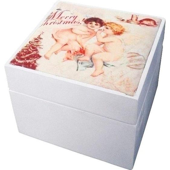 Myflair Möbel & Accessoires Holzkiste Camille, mit Weihnachtsmotiv B/H/T: 11 cm x 9 bunt Kisten Truhen, Körbe Schlafzimmer