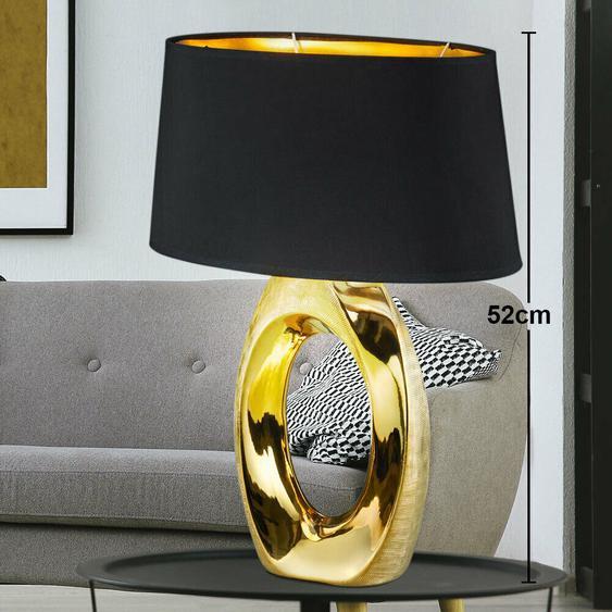 Nacht Tisch Leuchte Gäste Zimmer Beleuchtung Keramik Stoff Lampe