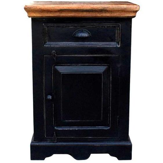 Nachtkommode in Schwarz 50 cm