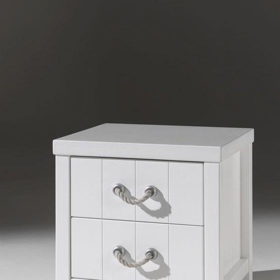 Nachtkommode »Lewis«, 50x46x56 cm, FSC®-zertifiziert, weiß, Vipack, mit Schubkästen