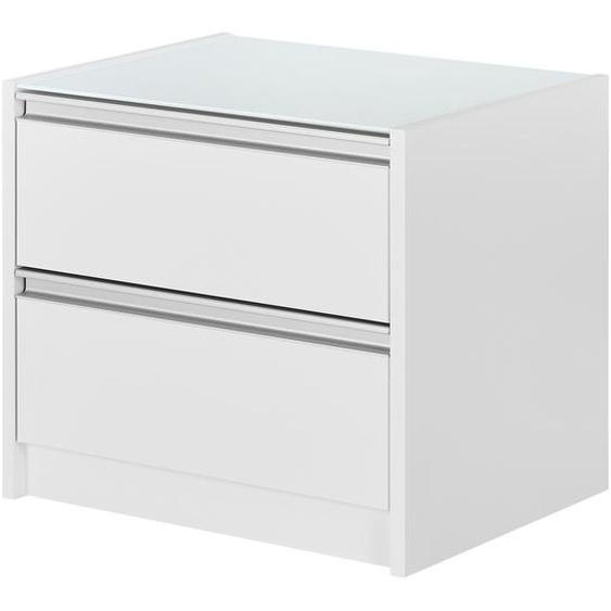 Nachtkommode - weiß - 52 cm - 45,6 cm - 40 cm | Möbel Kraft