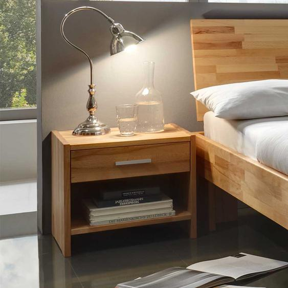 Nachtkommoden Set aus Kernbuche Massivholz einer Schublade