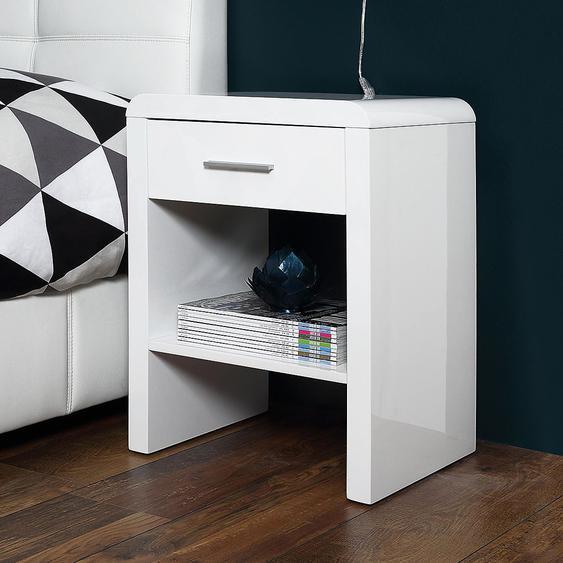 Fredriks Nachtkonsole Easy MDF Weiß Modern 45x60x35 cm (BxHxT)