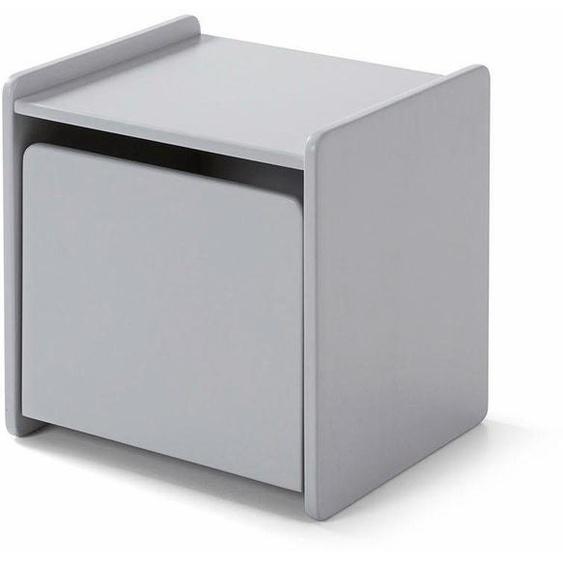 Nachtkonsole »Kiddy«, grau, Material MDF, Vipack