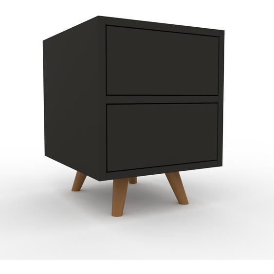 Nachtschrank Anthrazit - Eleganter Nachtschrank: Schubladen in Anthrazit - Hochwertige Materialien - 41 x 53 x 47 cm, konfigurierbar